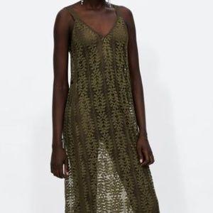 NWT Zara Lace Dress With Trims